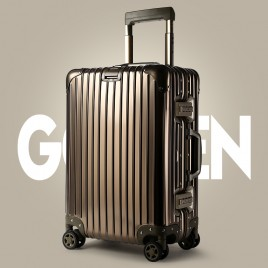 "Luxury 24"" Full Aluminum suitcase B0249 Gold"