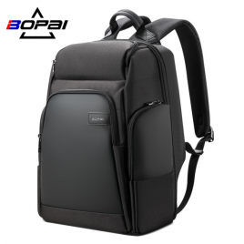 Luxury leather&Microfibre Backpack B0311 Black