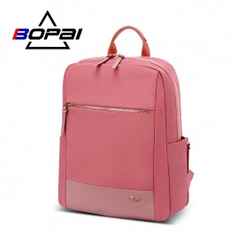 Luxury leather&Microfibre Backpack B1316 Pink