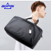 Luxury leather&Microfibre Travel Duffel Bag B3021 Black