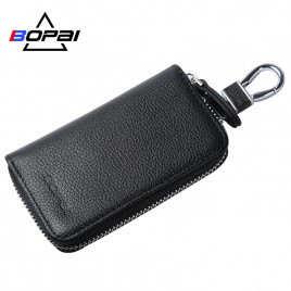 Luxury leather Key Organizer Bag B7221 Black