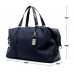 Luxury leather&Microfibre Travel Duffel Bag B1732 Blue(Extra Large)