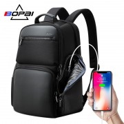 Luxury leather&Microfibre Backpack B1911 Black