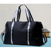 Luxury leather&Microfibre Travel Duffel Bag B4041 Blue