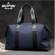 Luxury leather&Microfibre Travel Duffel Bag B5432 Blue