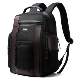 Luxury leather&Microfibre Backpack B6751 Black