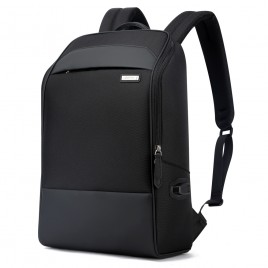 Luxury leather&Microfibre Backpack B6881 Black
