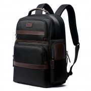 Luxury leather&Microfibre Backpack B7301 Black