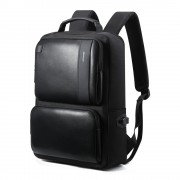 Luxury leather&Microfibre Backpack B7311 Black