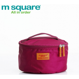 M SQUARE round shape portable multifunction travel storage pouch