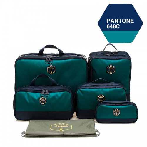 M SQUARE corporate luxury suitcase travel kit bag set (Navy blue)