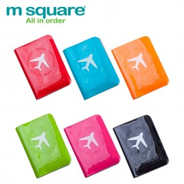M SQUARE PVC plastic passport cover