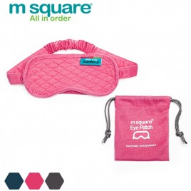 M SQUARE traveling sleeping eye patch blinder with pouch packing