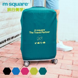 "M SQUAURE Light 4 color 20"" protective suitcase cover"