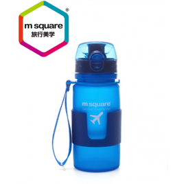 MSQUARE healthy harmless 350ml travel foldable platinum silicone water bottle