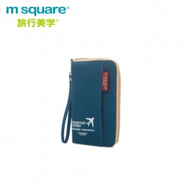 M SQUARE multinational colorful traveling passport wallet bag short  version
