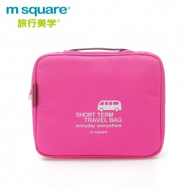 M SQUARE travel makeup toiletry wash bag (Pink)
