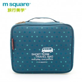 M SQUARE travel makeup toiletry wash bag (wave point blue)
