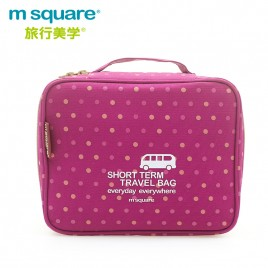 M SQUARE travel makeup toiletry wash bag (wave point pink)