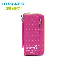 M SQUARE multinational colorful traveling passport wallet bag long  version (wave point colour)